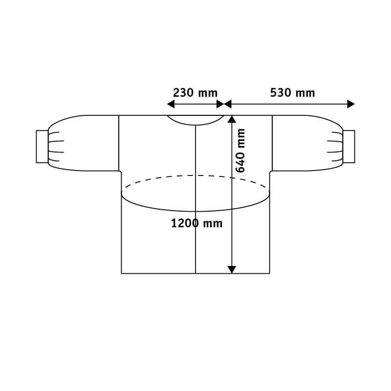 Aurora Sofia Luoto-paita (valkoinen) mitat