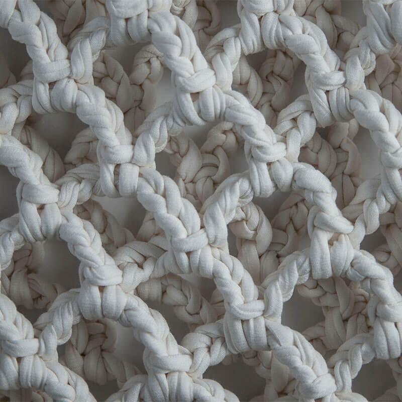 Aurora Sofia Nuotta-laukku (valkoinen) materiaali