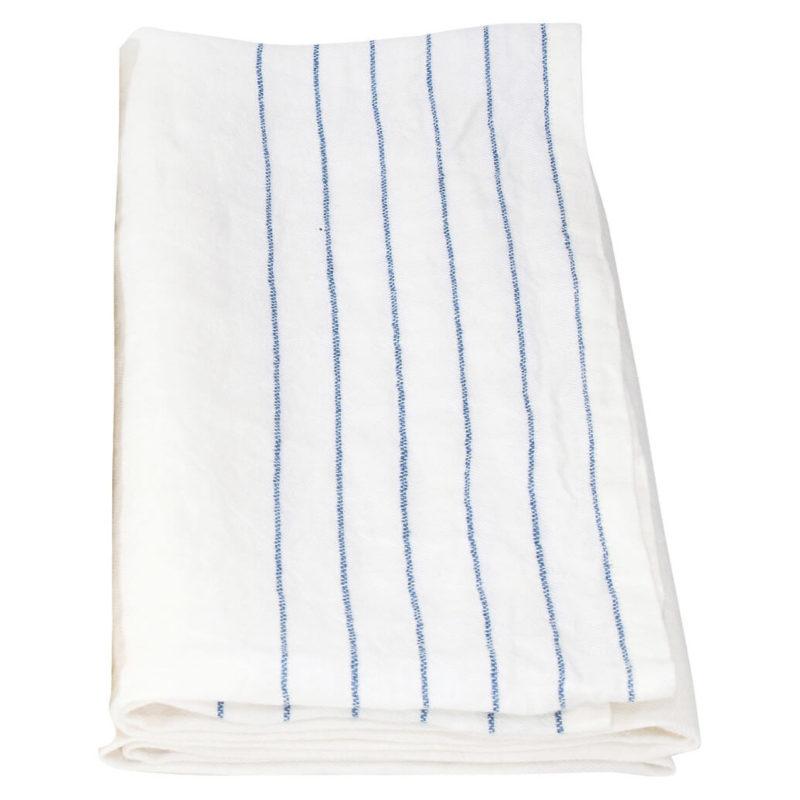 Lapuan kankurit KASTE pyyhe 95x180cm 15 valkoinen-sininen