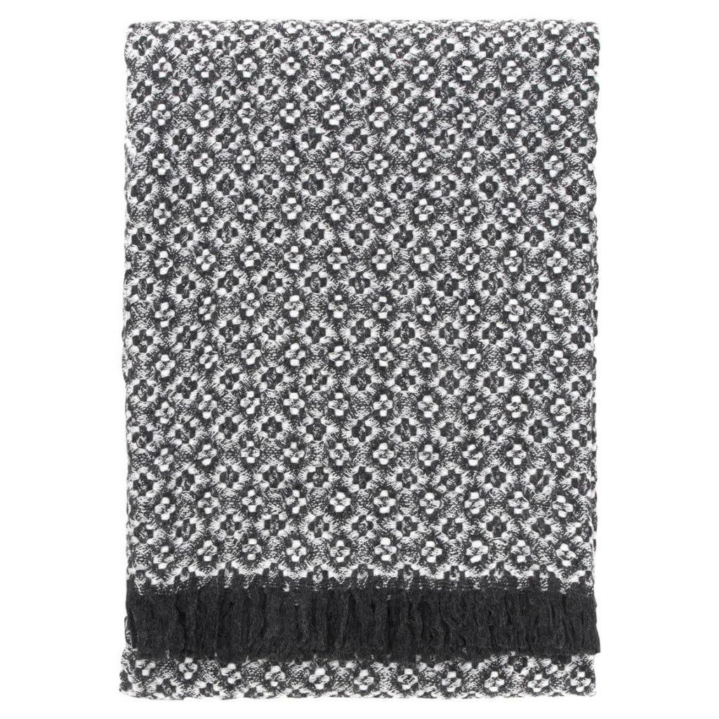 Lapuan Kankurit Keto huopa 130x170cm+hapsut harmaa-valkoinen