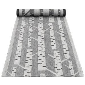 Lapuan kankurit KOIVU kaitaliina 35x120cm 9 valkoinen-musta 100_ pellava