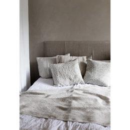 Lapuan kankurit MAIJA peitto 130x200cm+hapsut 1 valkoinen-pellava pellava-tencel-puuvilla