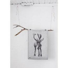 Lapuan kankurit PORO x Teemu Järvi pyyhe 46x70cm 69 valkoinen-musta pellava-orgaaninen puuvilla