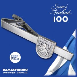Damastikoru Suomi100 Leijona Solmioneula