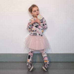 Melli Ecodesign lasten legginsit Mellimaa (roosa)