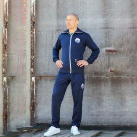 Tumman sininen Nousu Retroverkkari (takki+housut)