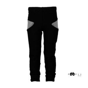 PaaPii Design Sisu collegehousut (musta + harmaa)