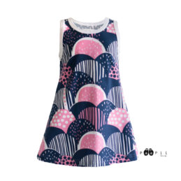 PaaPii Design Sato Liivimekko (mustikka-vaaleanpunainen)