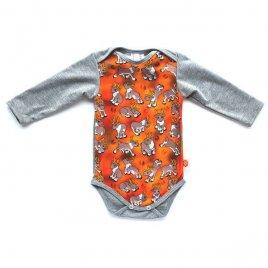 Paapero Pikkuporo vauvan body (harmaa)