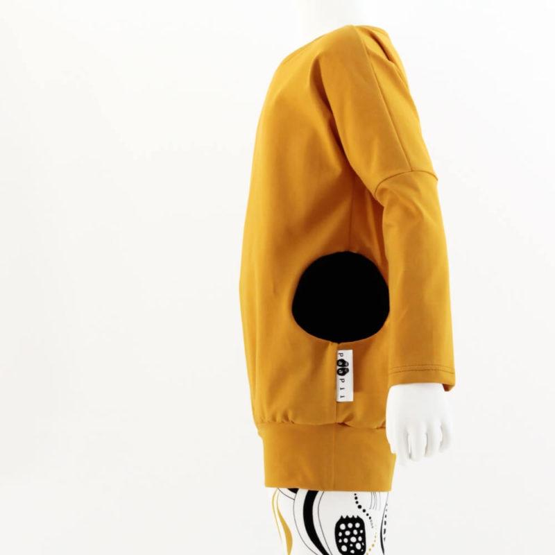 PaaPii Design Helmitunika (Okra + mustat pallotaskut)