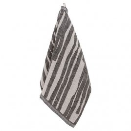 Lapuan Kankurit Twisti pyyhe 48x70cm pellava-musta