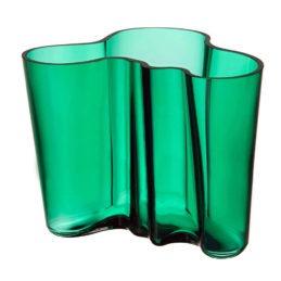 Iittala Aalto maljakko 160mm smaragdi
