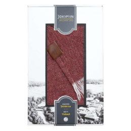Jokipiin Pellava Graniitti torkkupeitto (tiilenpunainen) lahjapakkauksessa