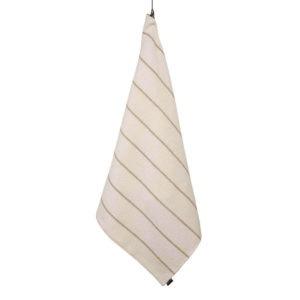 Jokipiin Pellava Liituraita kylpypyyhe (luonnonvalkoinen) 75 x 150 cm