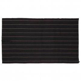 Jokipiin Pellava Liituraita rullapyyhe (musta) 90 x 150 cm