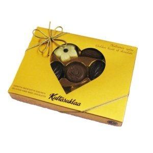 Kultasuklaa Kultainen sydän suklaarasia n.140 g 13 kpl