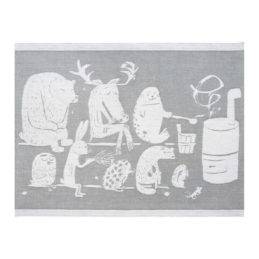 Lapuan Kankurit Eläinten sauna laudeliina 46x150cm (valko-harmaa)