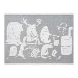 Lapuan Kankurit Eläinten sauna laudeliina 46x60cm (valko-harmaa)