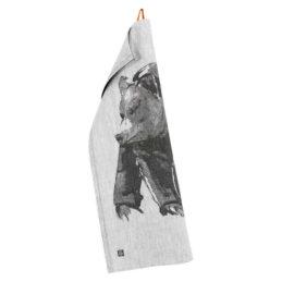 Lapuan Kankurit Karhu - Teemu Järvi pyyhe 46x70cm (valko-musta)