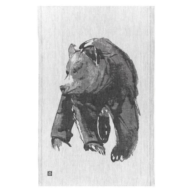 Lapuan Kankurit Karhu - Teemu Järvi pyyhe 46x70cm (valko-musta)2