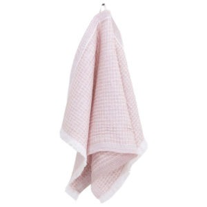 Lapuan Kankurit Laine pyyhe 85x175cm+hapsut (valko-roosa)