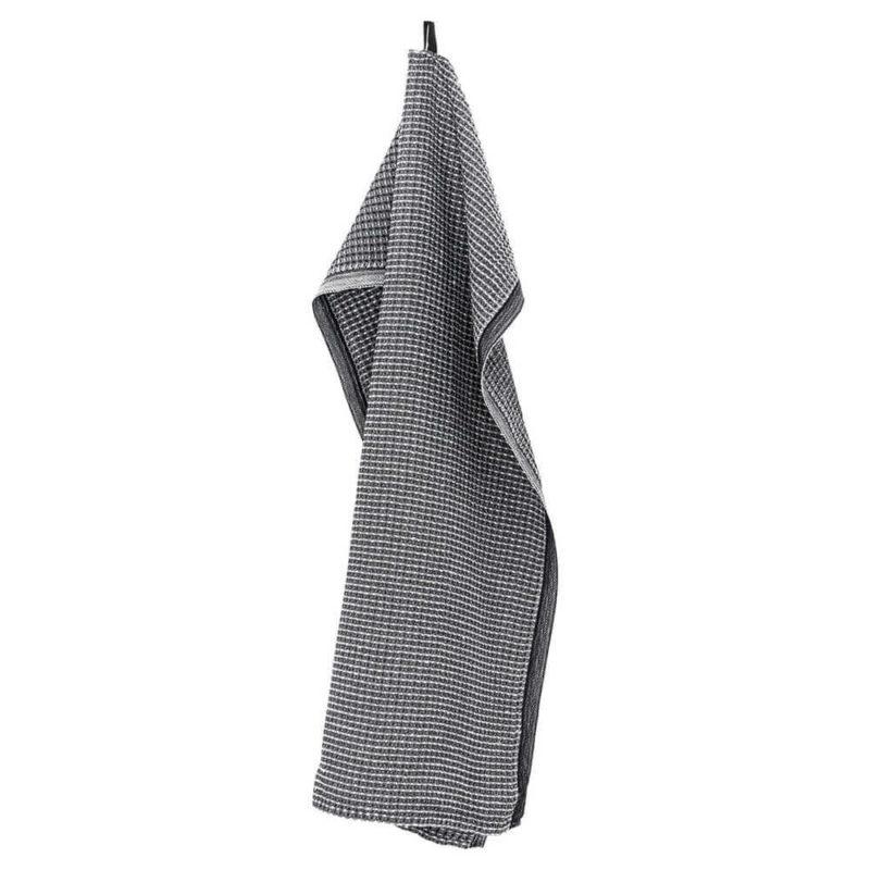 Lapuan Kankurit Maija käsipyyhe 48x70cm musta-valkoinen