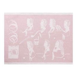 Lapuan Kankurit Naisten sauna laudeliina 46x60cm (valko-roosa)