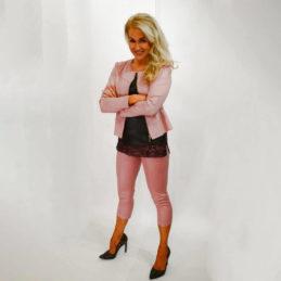 Muotitorppa jakku roosa