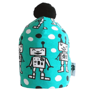 PaaPii Design Happy Robots tupsupipo turkoosi