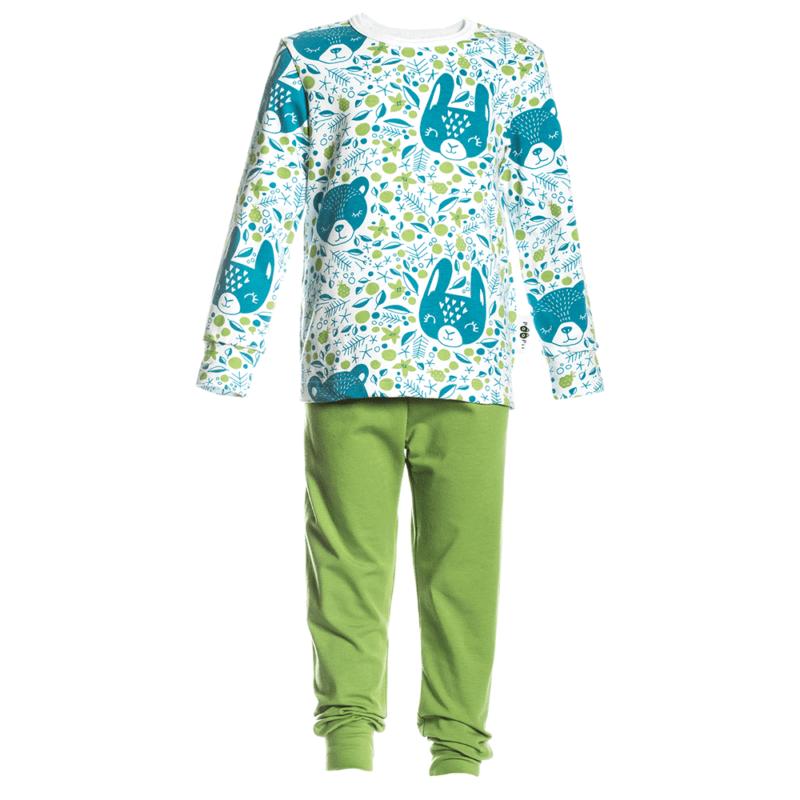PaaPii Design Rusko pyjama Marjaunelma petrooli-metsä