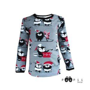 PaaPii Design Siirin ja Myyryn joulu lasten paita (harmaa)