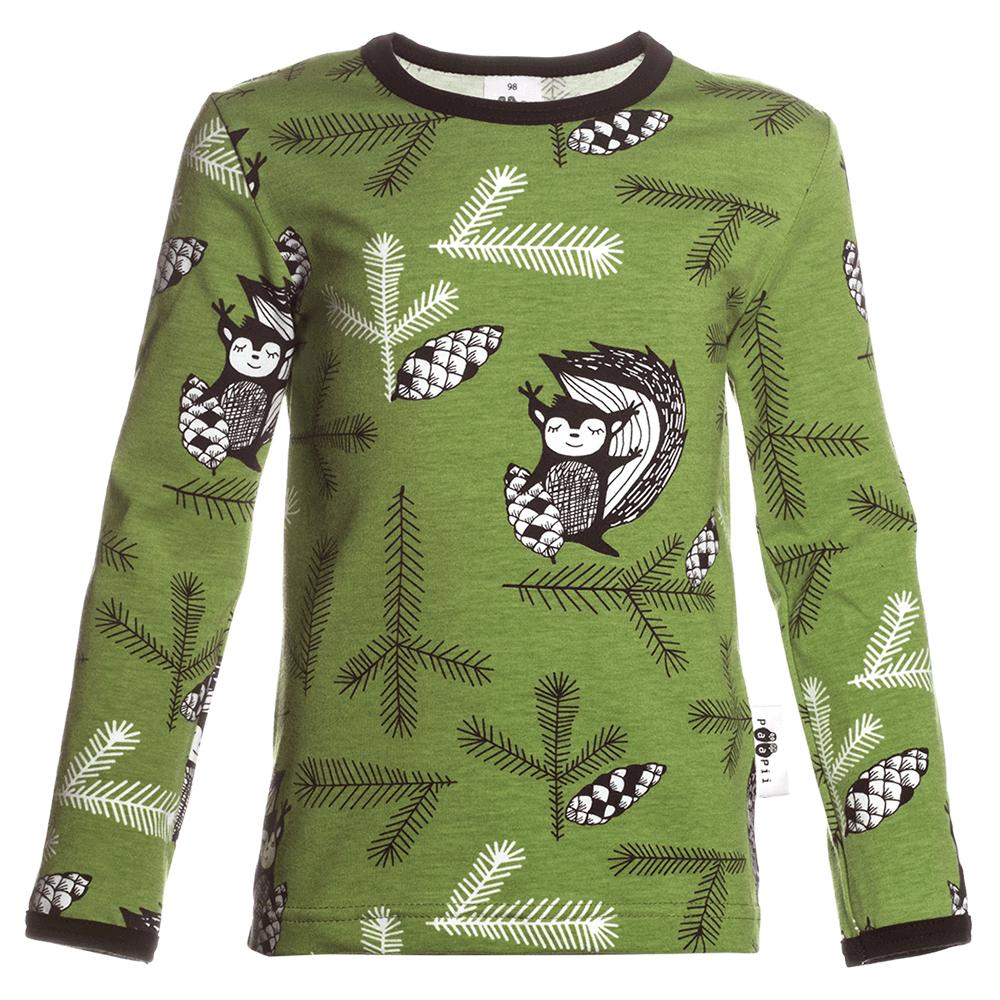 PaaPii Design Orava lasten paita metsänvihreä
