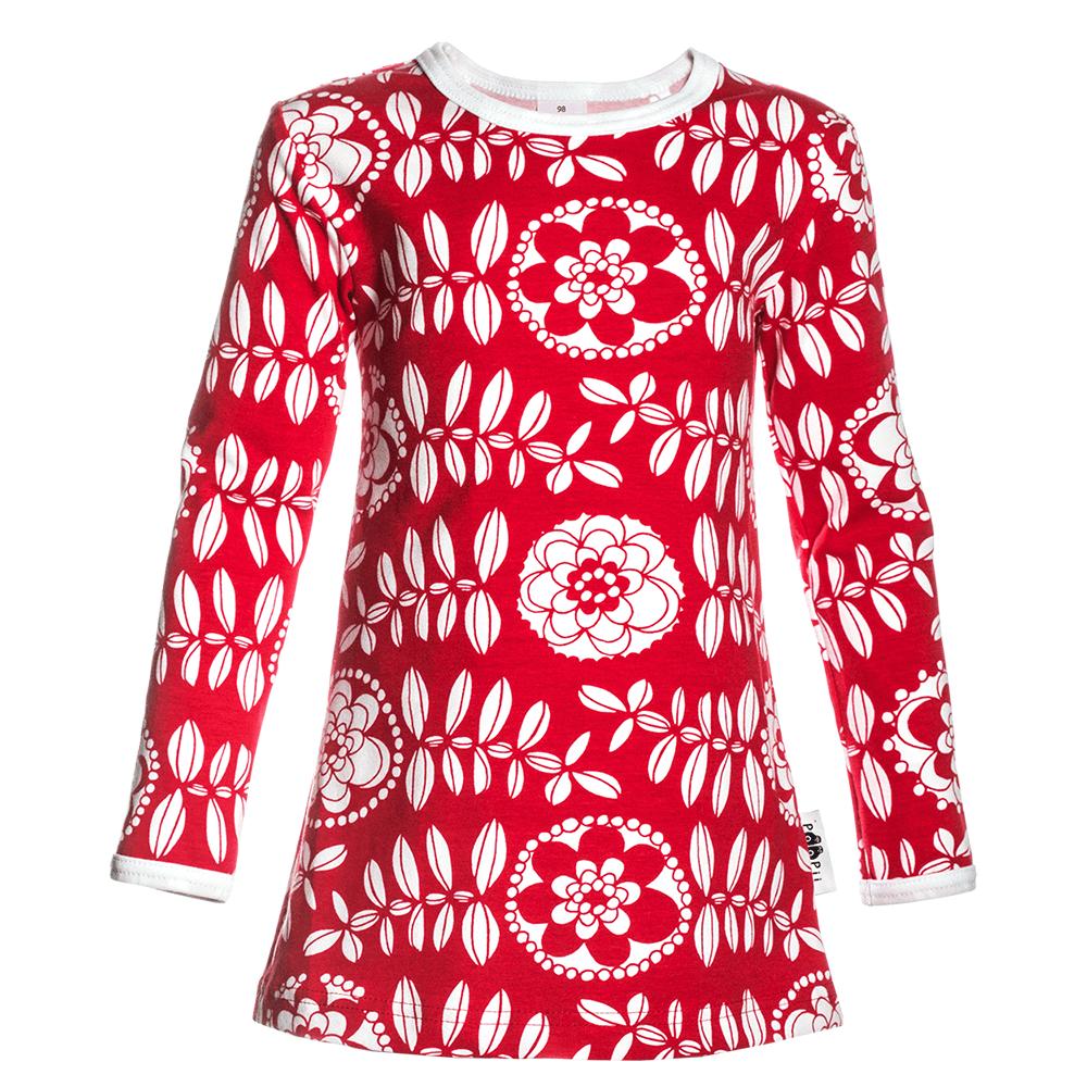 PaaPii Design Vieno tunika Lumikukka punainen