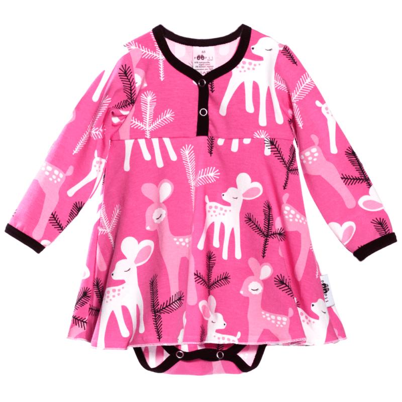 PaaPii Design mekkobody Bambi pinkki