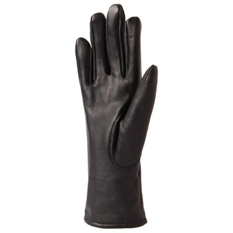 Paccas Naisten sormikkaat lampaan nappa merinovilla polyesteri (musta) kämmen
