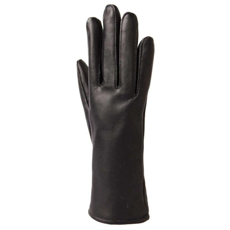 Paccas Naisten sormikkaat lampaan nappa merinovilla polyesteri (musta) päältä