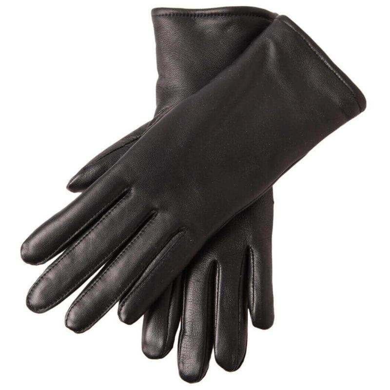 Paccas Naisten sormikkaat lampaan nappa merinovilla polyesteri (musta) pari