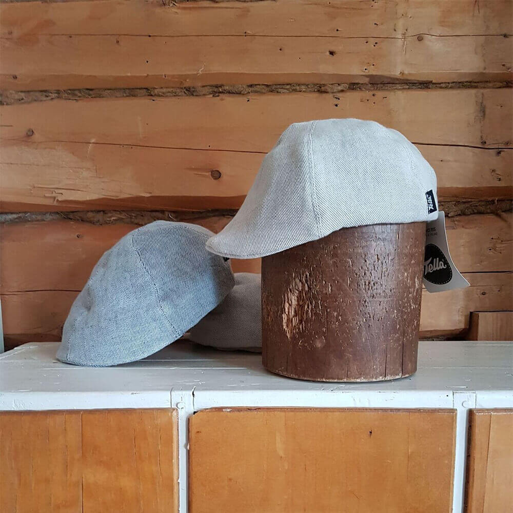 Tella ISTO miesten pellavalakki demin - Maammekauppa 2c13e01e74