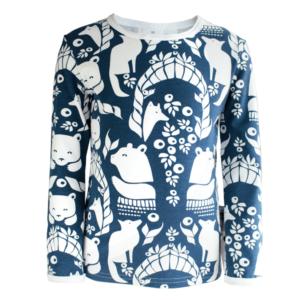 PaaPii Design Pohjolanportti lasten paita mustikka
