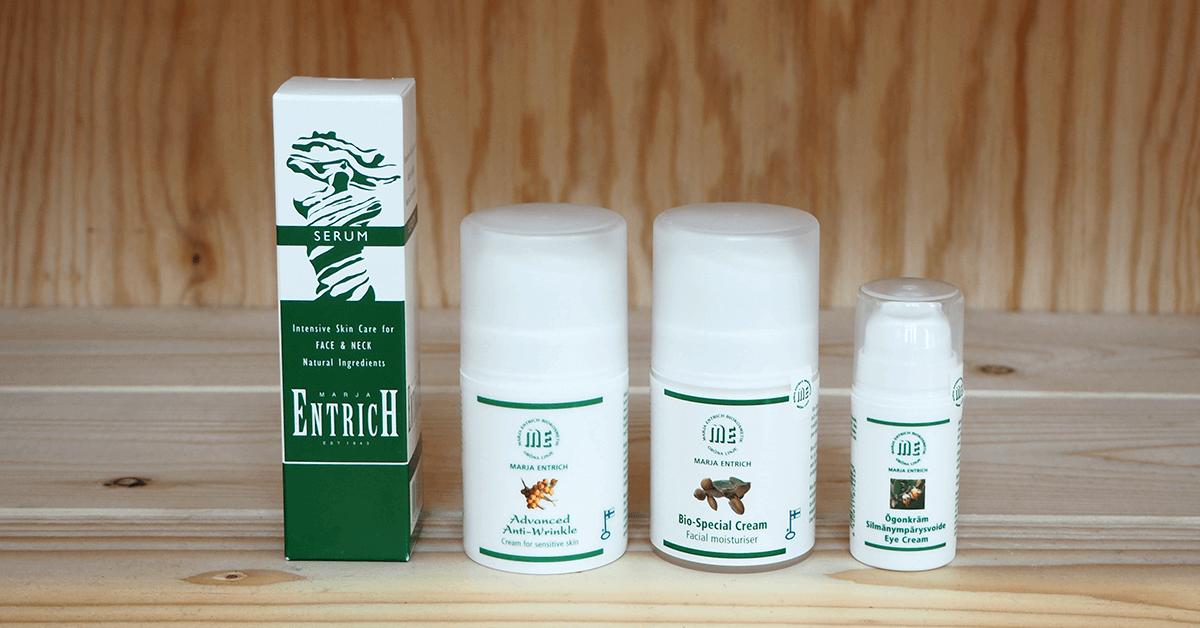 Marja Entrich tuotteet aikuisen naisen ihonhoitoon