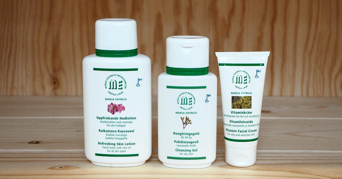 Marja Entrich tuotteet päivittäiseen käyttöön rasvoittuva iho