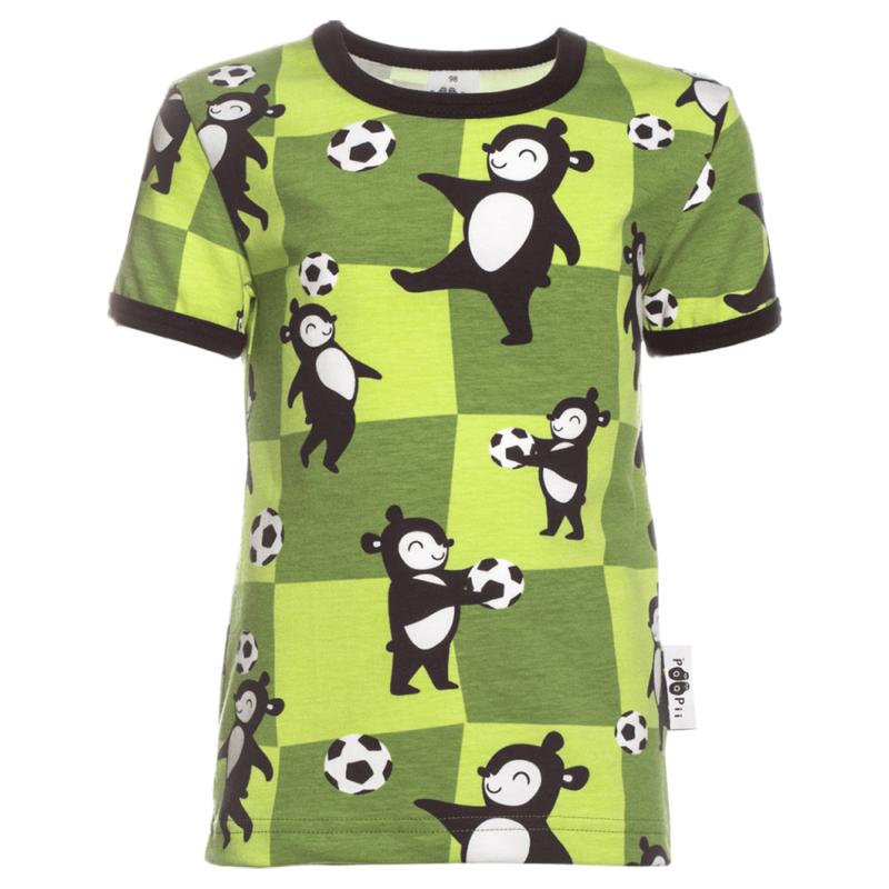 PaaPii Design Visa T-paita Pallopeli metsänvihreä
