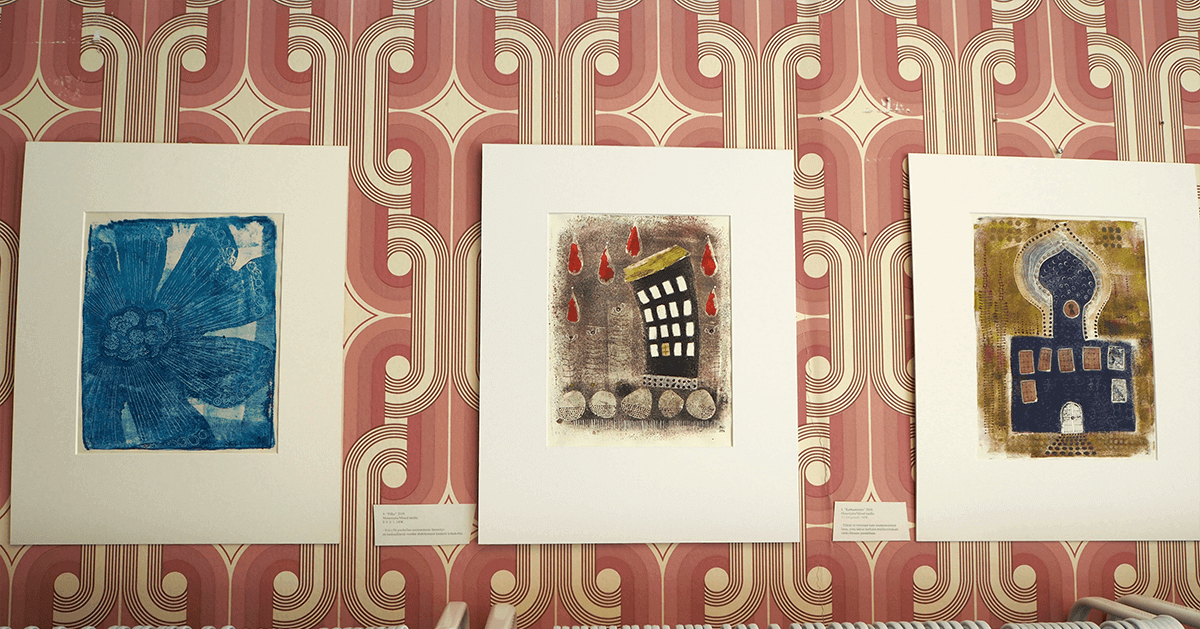 Milona Sadekallion taidetta Maammekaupan taidegalleriassa