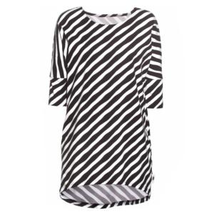 PaaPii Design Sade paita Diagonaali mustavalkoinen