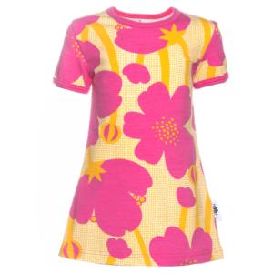 PaaPii Design Viola tunika Niittyleinikki pinkki-aurinko