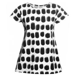 PaaPii Design Vuono T-paita Keto mustavalkoinen