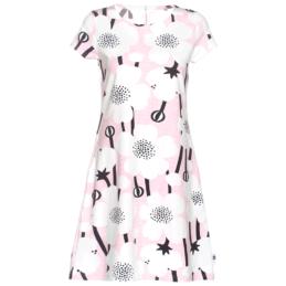 PaaPii Design Sointu mekko Niittyleinikki valkoinen-vaaleanpunainen