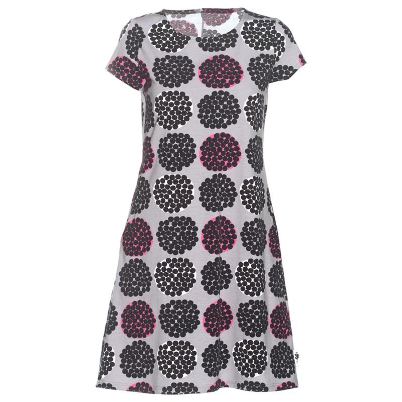 PaaPii Design Sointu mekko Rubus harmaa-pinkki