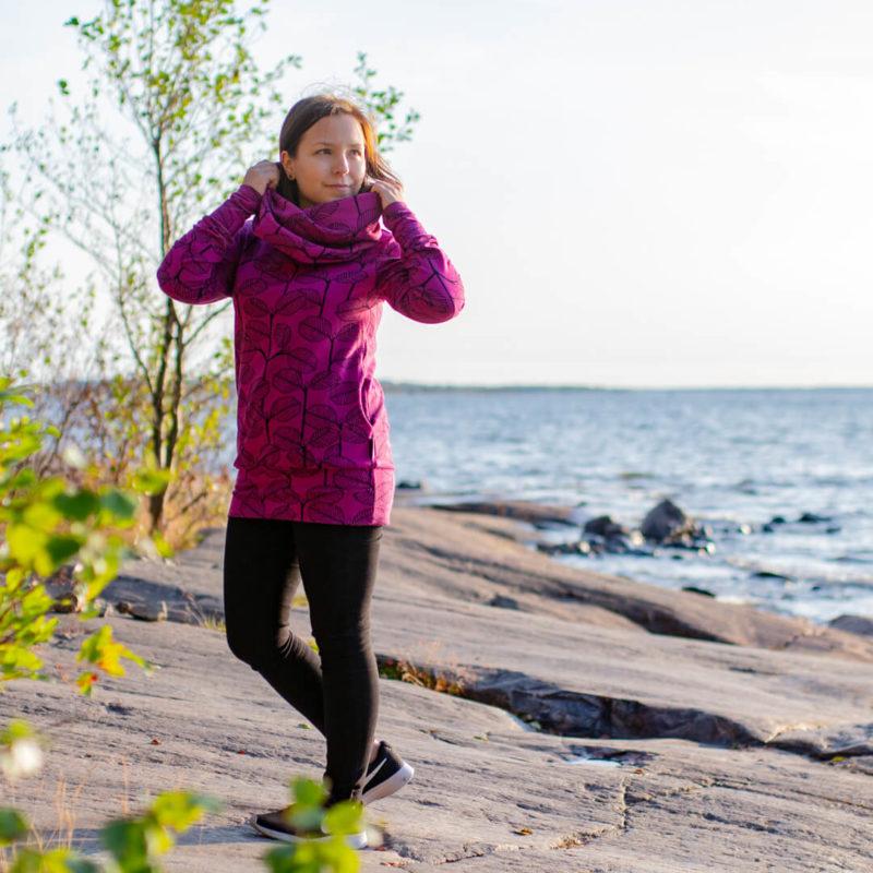 PaaPii Design Halla huppari Leppä violetti rannalla 2