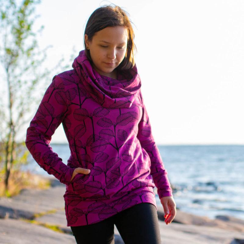 PaaPii Design Halla huppari Leppa violetti rannalla